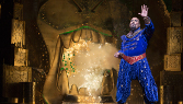 James Monroe Iglehart as Genie in ALADDIN. Photo by Cylla von Tiedemann
