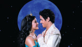 Adam Jacobs as the title character and Courtney Reed as Jasmine in ALADDIN.  Photo by Matthew Murphy