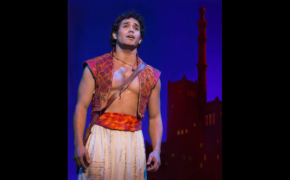 Adam Jacobs as the title character in ALADDIN. Photo by Cylla von Tiedemann